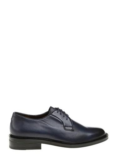 George Hogg %100 Deri Bağcıklı Klasik Ayakkabı Lacivert
